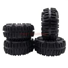 "2.2"" RUBBER ROCK CRAWLER TYRE TIRES (4) W/ FOAM FOR AXIAL SCX10 WRAITH TRX-4"