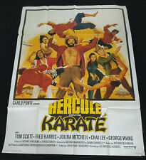 AFFICHE CINEMA ORIGINALE 120/160 HERCULE CONTRE KARATE - Antonio Margheriti 1973