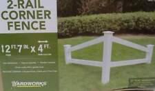"31"" x 48"" White 2-Rail Corner Accent Fence - Yardworks 172-4077"