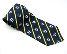 VATTIKUTI UROLOGY INSTITUTE Neck Tie Blue with Yellow Stripes 100% SILK Necktie