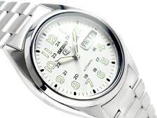 Seiko 5 Reloj Para hombres Automático ver a través de la espalda números de marcado SNX801K Reino Unido Vendedor