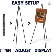 """Quartet Instant Display 64"""" in Easel Model 29E Holds up to 10 lbs Sturdy Black"""