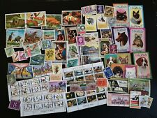 Mixed Lot Postage Stamps Worldwide most from 1970'S