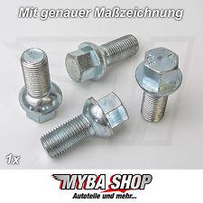 1x Radschraube R12 M12 x 1,50 x 27 Felgen SW17 Kugelbund für Audi, VW #NEU#