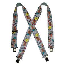New CTM Men's Elastic Clip-End 2 Inch Tradesman Work Suspenders