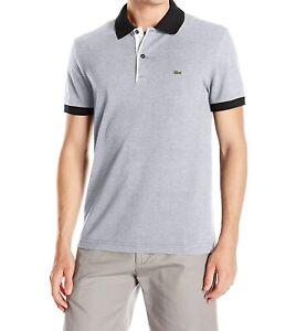 Lacoste Polo Shirt BNWT size XL (6) Mens Regular Fit Grey Black White PH0006