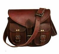 Bag Leather Vintage Shoulder Purse Crossbody Brown Tote Large Brown Handbag