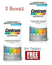 Centrum Advance Multivitamins 200 TABLETS Adult Multi Complete A-Z x 2 Boxes