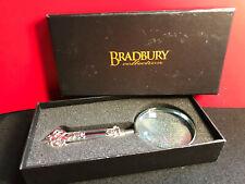 Vtg Silver Tone Magnifying Glass Heavy Handle in Original Box