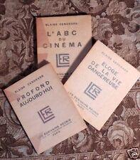 Trois écrits de Blaise Cendrars aux Editions Les Ecrivains Réunis, Paris, EO num