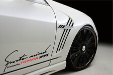 Sports Mind Powered by TOYOTA SPORT Racing Decal sticker emblem logo BL/RED Pair