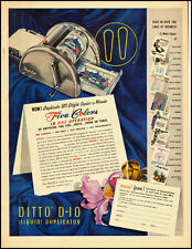 1953 vintage ad, DITTO-D-10 5 Color pioneer Copier, (liquid duplicator)- 040813