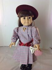 "PLEASANT CO. AMERICAN GIRL DOLL "" SAMANTHA"" With HAT Purse Penny Brooch Handkerc"