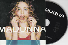 CD CARTONNE CARDSLEEVE 2T MADONNA DROWNED WORLD SUBSTITUTE FOR LOVE 1998