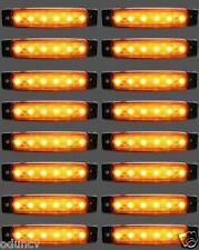 16 Stk x 12V 6 LED Seitenblinker orange bernstein Blinker Lichter