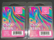 New ScentSationals GOOD VIBES Wax Cubes 2.5 Oz Lot Of 2