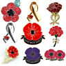 Red Poppy Flower Brooch Pin Broach Lapel Enamel Remembrance Badge Banquet Gifts