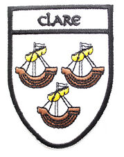 Irish Clare Crest Shield Embroidered Iron Sew-on Cloth Badge Patch Appliqué