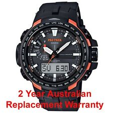 CASIO PROTREK TRIPLE SENSOR SOLAR PRW-6100Y-1 BLACK /ORANGE WAVE CEPTOR PRW-6100