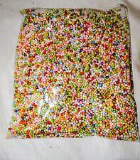 RAINBOW Micro POLYSTRENE FOAM BEADS Balls for SLIME/ mini Styrofoam Balls/ USA
