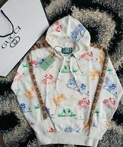 Gucci X Disney Hoodie  Sweatshirt Men's,Free Shipping, G stripes White