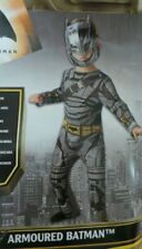 BRAND NEW RUBIES BATMANS DAWN OF JUSTICE  ARMOURED   JUMPSUIT & MASK ..AGE 7-8..