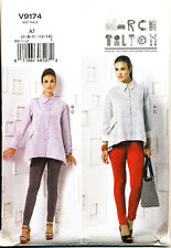 VOGUE SEWING PATTERN 9174 MISSES 14-22 MARCY TILTON LOOSE SHIRT & TAPERED PANTS