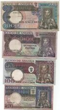 ANGOLA 4 OLD BANKNOTES 1973 LOOK SCANS