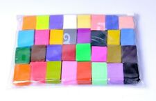 32 PCS DIY Malleable Soft Polymer Modelling Clay Blocks Craft Oven Bake Moulding