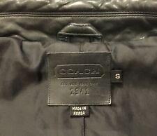 Coach Lamb Leather Shirt Jacket size Small