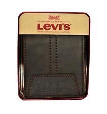 Levi's Passacse Mens Bifold Leather Wallet Brown