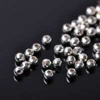 100pcs 4mm Jewelry Findings Round Silver Loose Spacer Metal Beads Charms Small