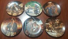 Indiana Jones The Last Crusade Plates Complete 6 Plate Set 1989-1991