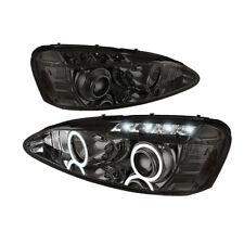 Pontiac 04-08 Grand Prix Smoke Dual Halo LED Projector Headlights Lamp GT GXP