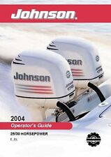 Johnson Outboard Owners Manual 2004 25 & 30 HP Models: E & EL
