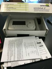 Leviton RC-1000WH Omnistat2 Conventional & Heat Pump Thermostat, White - New