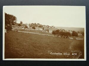 Derbyshire Bakewell OVER HADDON Panoramic Village View - Old RP PC by R. Sneath