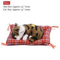 Sleeping Simulation Cat Plush Sound Kids Toy Stuffed Doll Home Room Decoration