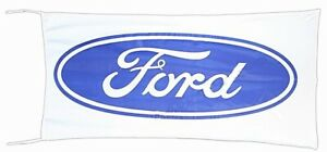 Ford Logo Flag blue on white  1500mm x 900mm (of)