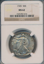 1945 Walking Liberty Silver Half Dollar *Ngc Certified Ms62* Free Shipping!