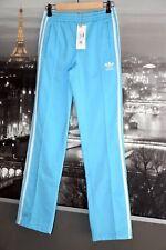 RARE! NWT VTG ADIDAS Originals E16488 Pants Active Track Aqua Blue White 34 S