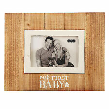 Mud Pie MH5 Christmas Pet Dog First Baby Paw Print Photo Picture Frame 4695234