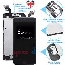 for iPhone 6 Plus Screen Replacement LCD Touch Camera Button Black
