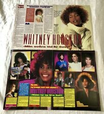 Whitney Houston 1980s Clippings Posters Swedish Music Okej Vintage Rare