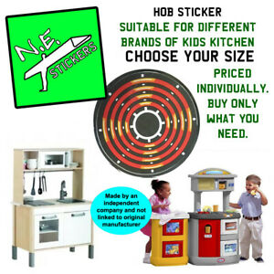 REPLACEMENT kids kitchen hob burner stove STICKER -may fit Little Tikes IKEA