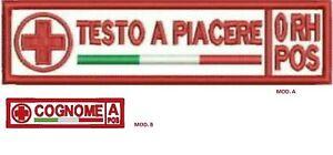 Toppa patch croce rossa italiana CRI soccorritore medico infermiere infermieri