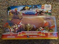 NEW Skylanders SUPERCHARGERS Double Dare TRIGGER HAPPY Land Trophy GOLD RUSHER
