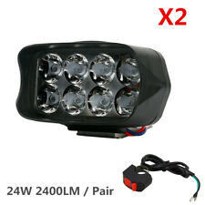 1 Pair 12W 1200LM LED Work Light Bar Spotlight Fog DRL Driving Lamp Car Offroad