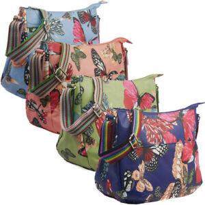 Ladies Oilcloth Butterfly Cross Body Messenger Bag Women Shoulder Tote Satchel H