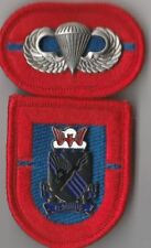 1st Bn 505th AIRBORNE INFANTRY REGT - BERET FLASH DI CREST & OVAL W/ JUMP WINGS